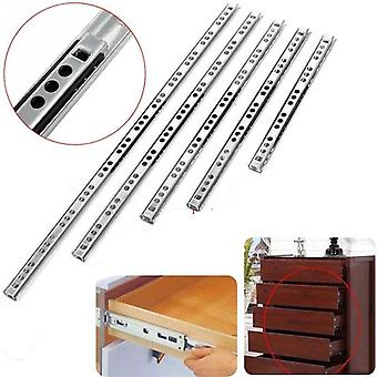 Stainless Steel Drawer Slides Ball, Bearing Runners, Three-section Extension