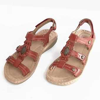 Earth Spirit Lynbrook Ladies Leather Strappy Sandals Red
