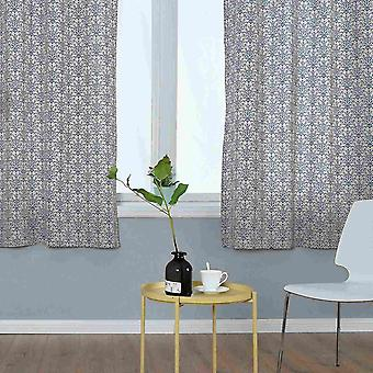 Blue And White Porcelain Printing Curtains For Bedroom
