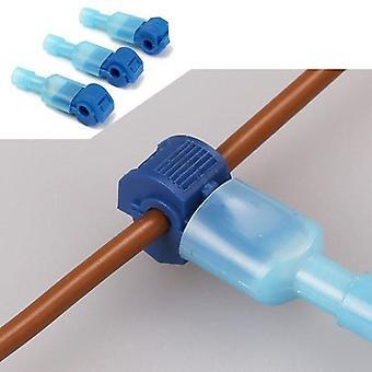 Sininen latva, lankaliittimet & urospataliitin, sähköiset koskettimet