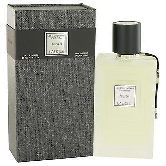 Les composiciones Parfumees Eau De Parfum Spray por Lalique 3.3 oz Eau De Parfum Spray de plata