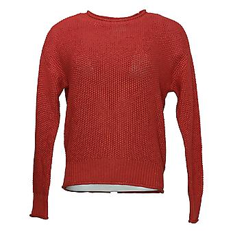 Jessica Simpson Women's Sweater Pullover Long Sleeve Scooter Red