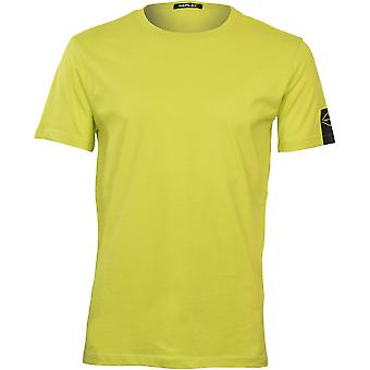Replay Black Logo Sleeve T-Shirt, Citron Vif
