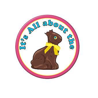 Schokolade Hase Button (Packung mit 12)
