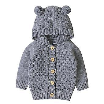 Παλτό αγοριών, νεογέννητο σακάκι με κουκούλα μανικιών φθινοπώρου