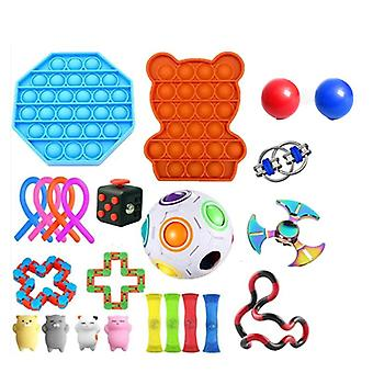 23pcs לארוז צעצוע חושי להגדיר Antistress הקלה צעצועים פידג'ט