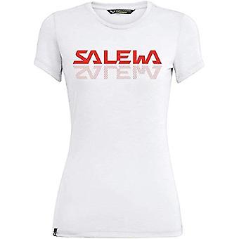 Salewa Graphic Dri-Rel, Camiseta de mujer, Blanco Óptico, 42