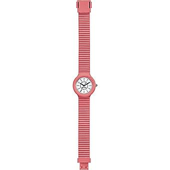 HIP HOP women's watch NUMBERS COLLECTION white dial and salmon silicone strap, MOVEMENT ONLY TIME - 3H QUARTZ(2)