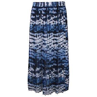 Just White Shades Of Blue Elasticate Waist Pleated Skirt