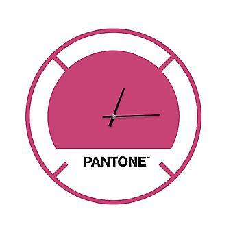 PANTONE Drive Klocka i rosa, vit, svart, metall L40xP0.15xA40 cm