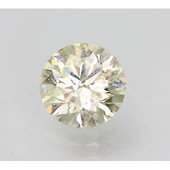 Sertifioitu 1,02 karat J SI2 pyöreä brilliant parannettu luonnollinen löysä timantti 6,44mm
