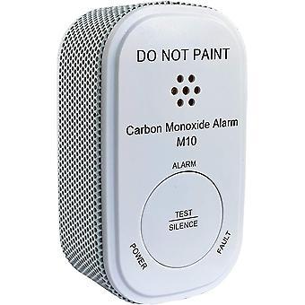 M10 Mini CO Melder mit 10-Jahres-Batterie, Kohlenmonoxid Gasmelder, Alarm 85 dB - Gaswarner der