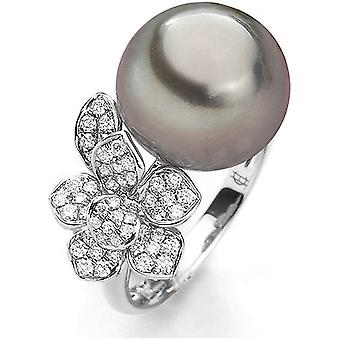 Luna-Pearls - Ring - Pearl Ring Brilliant - White Gold - 005.0996 Gr 56 (17.8mm)