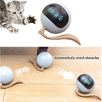 For Smart Automatic Cat Ball Toy Interactive Electric Rotate Ball Toy LED Light USB Rolling Pet Toy WS24491
