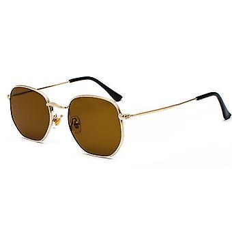 Hexagon Sun Glasses New Women Metal Frame Fishing Glasses
