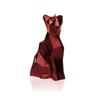 Red Metallic Low Poly Cat Candle
