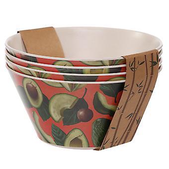 Bamboo Composite Avocado Reusable Bowl Set of 4