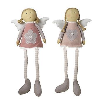 Sitting Heart & Flower Dress Angel By Heaven Sends (One Random Supplied)