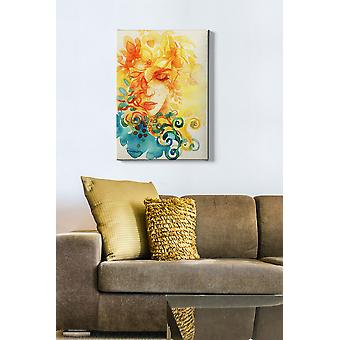 Kanvas Tablo (50 x 70) - 56 flerfärgade dekorativa dukmålning