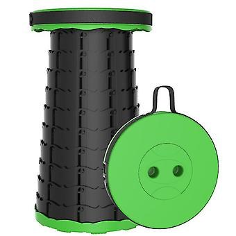 Vancl Outdoor folding telescopic stool, portable plastic stool for camping and fishing(Grass Green)