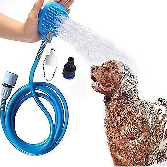 Pet scăldat Instrument de duș Pulverizator Masaj Scrubber reglabil handheld Grooming
