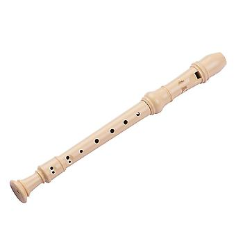 Qi mei 8-hole german style soprano descant recorder flute with cleaning rod finger rest strap pu