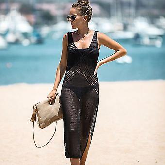 Gestrickte Sommer Bikini Vertuschen Suncreen aushöhlen Beachwear Kaftan