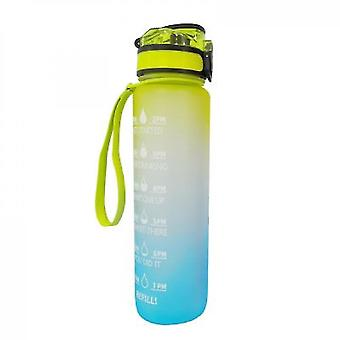Water Bottle With Time Marker & Straw  Water Bottles With Times To Drink(Yellow Blue)