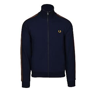 Fred Perry Striped Tape Track Jacket Dark Carbon