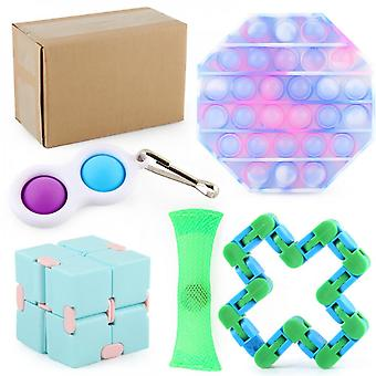 Evago Stress Relief Toy Set, 20/24/28 Pcs Sensory Toy For Add, Ocd, Autistic Children, Adults Anti Anxiety With Motion Timer, Perfect For Classroom Re