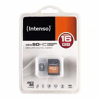 Mikro-SD hukommelse Card med adapter INTENSO 3413470 16 GB klasse 10