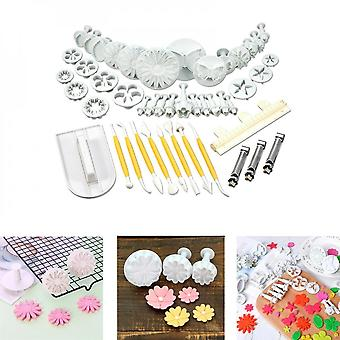46pcs Cookie Cutter Cake Embossing Mold Tool Set