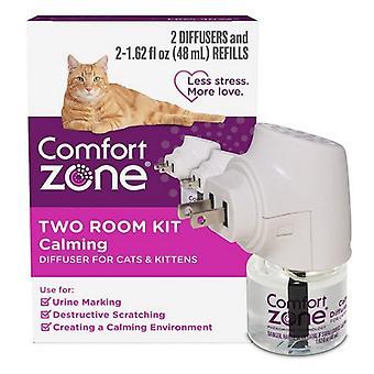 אזור נוחות שני חדרים ערכת מפזר מרגיע לחתולים וחתלתולים - 2 ספירה