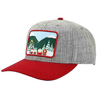 South Park Bus Stop Boys Sublimated Patch Pre-Curved Snapback
