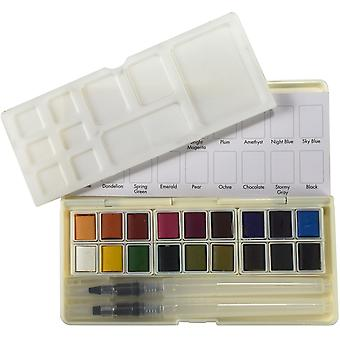 استوديو أساسيات الضوء لوحة الألوان المائية مجموعة 18/Pkg-ألوان متنوعة