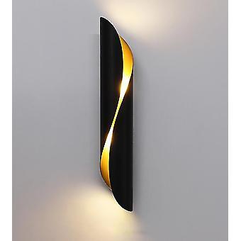 Wohnzimmer Nachttisch Wandleuchte Led Treppe Korridor Dekoration Beleuchtung (warmes Licht) (schwarz)