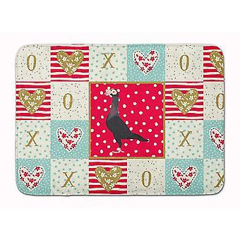 Bath mats rugs english carrier pigeon love machine washable memory foam mat
