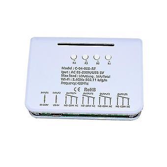 Wifi 433rf Sprachfernbedienung ewelink2ch / 4ch Relaisschalter alexa nest google home 10 Pressrelais 8