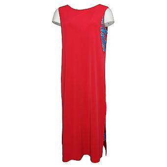 IMAN Boho Chic Robe sans manches Deux couches Rouge 691926