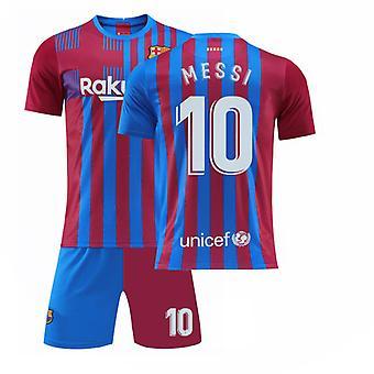 Camiseta Messi Barcelona, Camiseta camiseta-messi-10, camiseta blanca de casa (talla infantil)