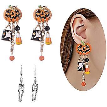 Nové Halloween Dangle náušnice Kreatívne tekvicové náušnice Tekvica Kvapkanie Vtipné náušnice