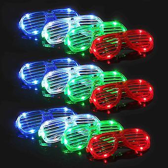 12 sztuk Led Luminous Glasses Halloween Music Festival Party Supplies dla dzieci lub dorosłych