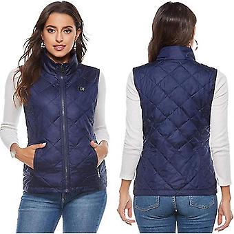 Gilet riscaldato da donna con 4 zone riscaldanti, giacca riscaldante al collo