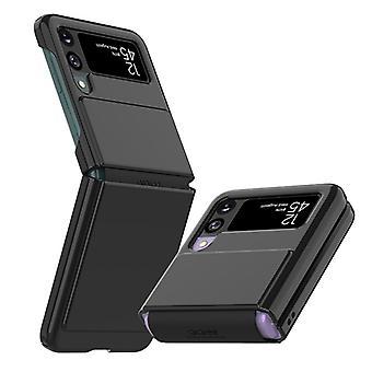 שריון קשוח [טכנולוגיית הגנה על ציר] המיועדת למארז Galaxy Z Flip 3 5g (2021) - שחור