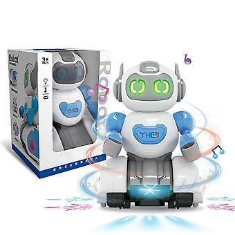 カラエレ電気ロボットユニバーサルライトミュージック回転まぶしいダンスモデル子供のおもちゃ