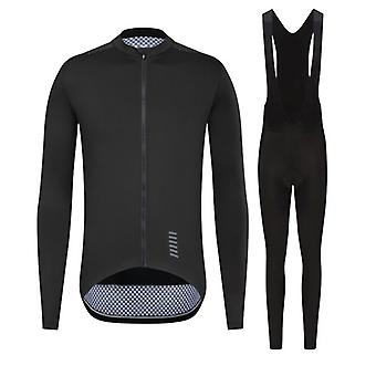 Efterår Mænd Cykling Jersey Set Mænds langærmet Ropa Ciclismo Cykel Tøj Hagesmæk Pants Mtb Bike Jersey Uniform