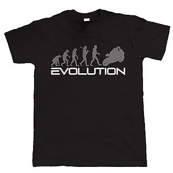 Evolution of Biker T Shirt - Superbike Motorbike - Gift for Dad Him