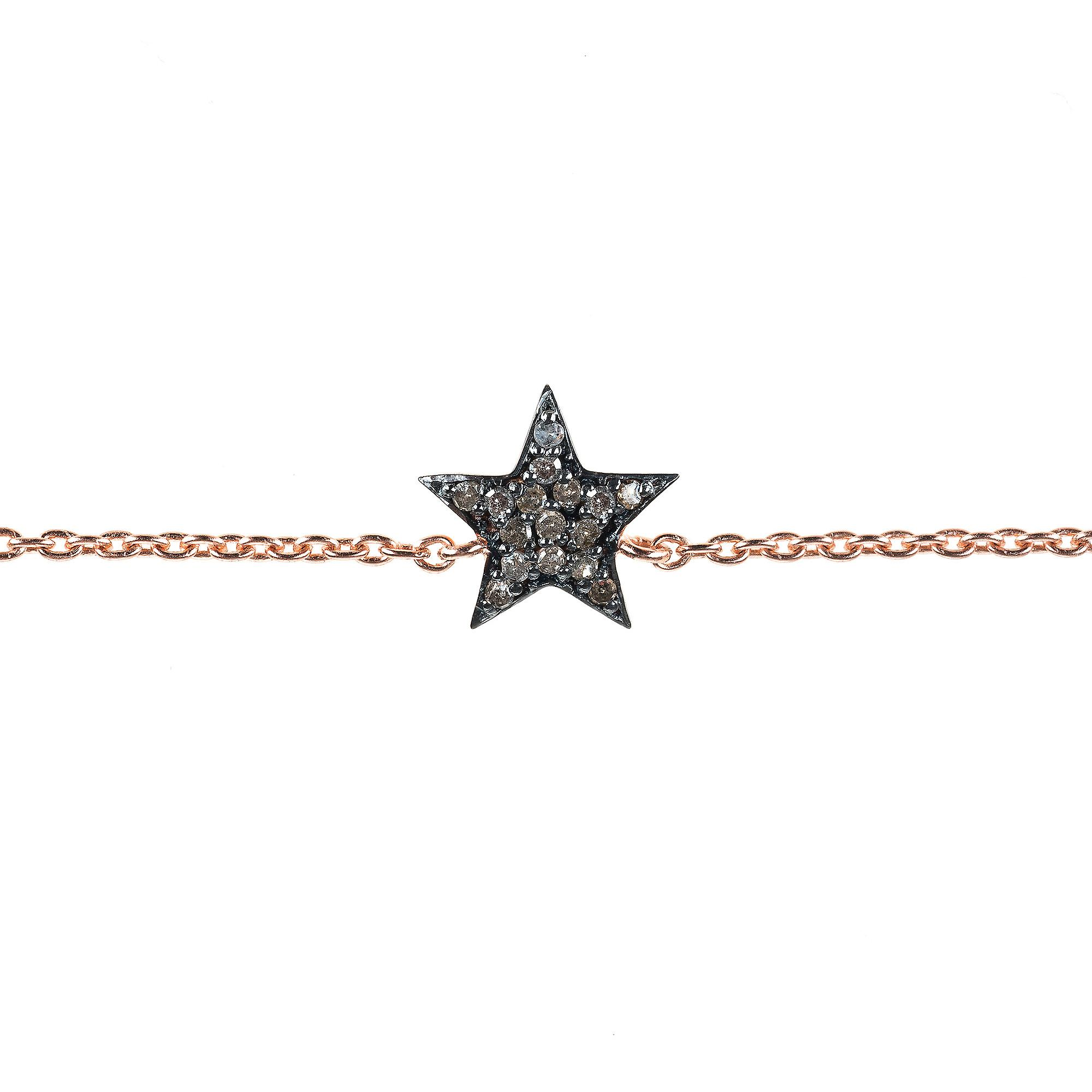 Latelita Bracelet 925 Sterling Silver Pink Diamond Star Rose Gold