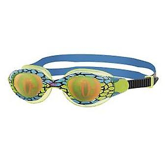 Zoggs Sea Demon Junior Swim Goggle - Hologram Lens - Green/Blue