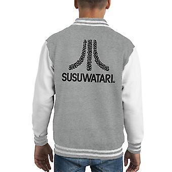 Varsity Jacket de l'enfant Susuwatari jeu Console Atari Logo